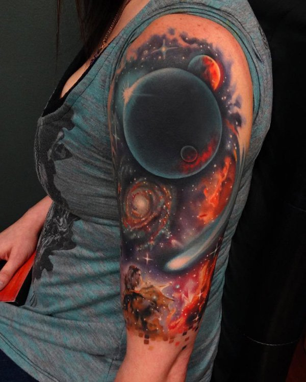 colored-space-half-sleeve-tattoo-for-women 7676765