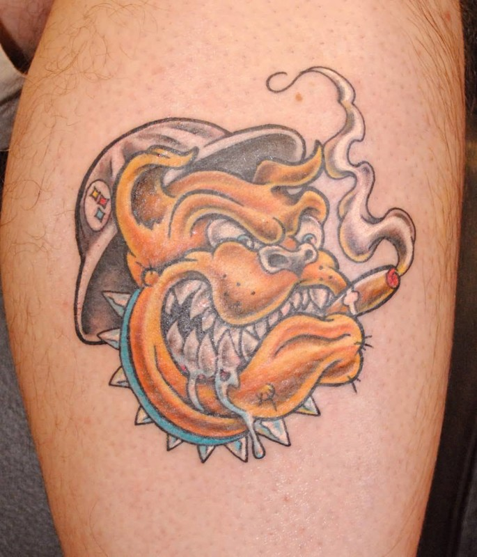 Addicted Angry Dog Face Tattoo Design Made By Ink
