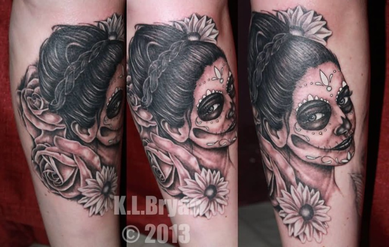 dia de los muertos sleeve tattoo ideas and dia de los muertos sleeve tattoo designs page 2. Black Bedroom Furniture Sets. Home Design Ideas