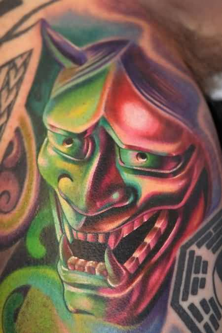 d5ec5c702 Brilliant Glowing Devil Face Tattoo Design Made By Colorful Ink