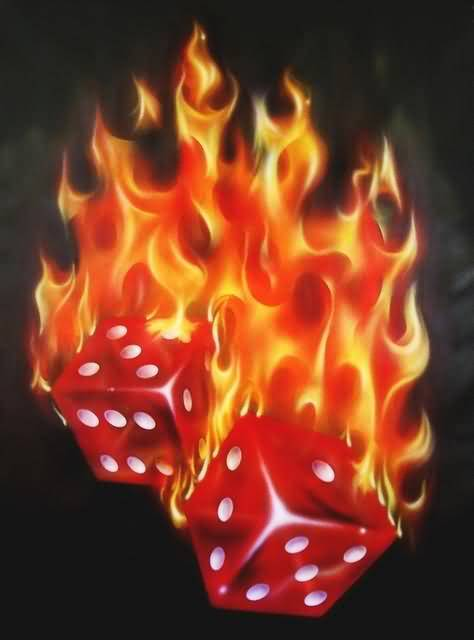 Flaming Dice Tattoo Ideas And Flaming Dice Tattoo Designs