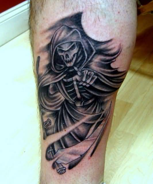 Fabulous Death Grim Tattoo Design Made By Perfect Artist