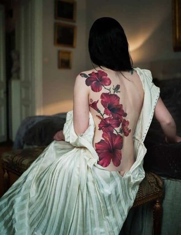 Hibiscus flowers tattoos