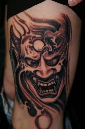 demon face tattoo - photo #42