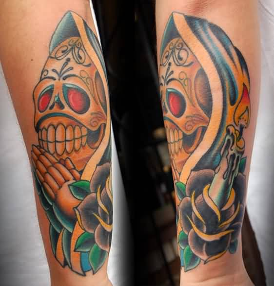 dia de los muertos sleeve tattoo ideas and dia de los muertos sleeve tattoo designs page 4. Black Bedroom Furniture Sets. Home Design Ideas