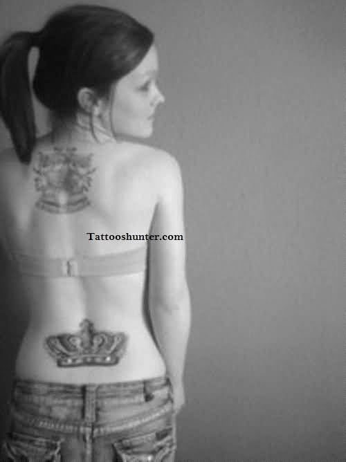 Crown women tattoo ideas and crown women tattoo designs for Crown tattoos on lower back