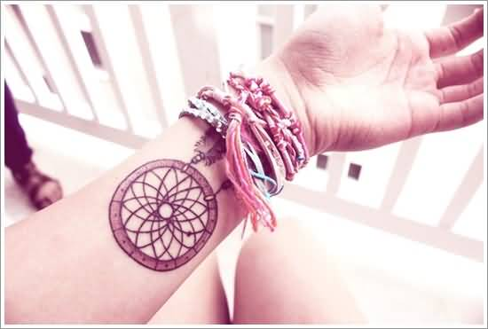 Lower Sleeve Cover Up With Outstanding  Simple Dream Catcher Tattoo For Women