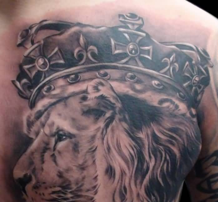 Crown men tattoo ideas and crown men tattoo designs for Crown chest tattoo