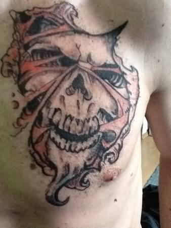 Devil face tattoo ideas and devil face tattoo designs page 5 for Torn skin skull tattoo