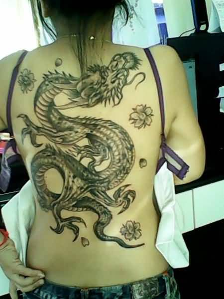 Dragon Back Tattoo Ideas And Dragon Back Tattoo Designs