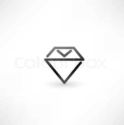 Simple Black Ink Diamond Tattoo Design On Paper