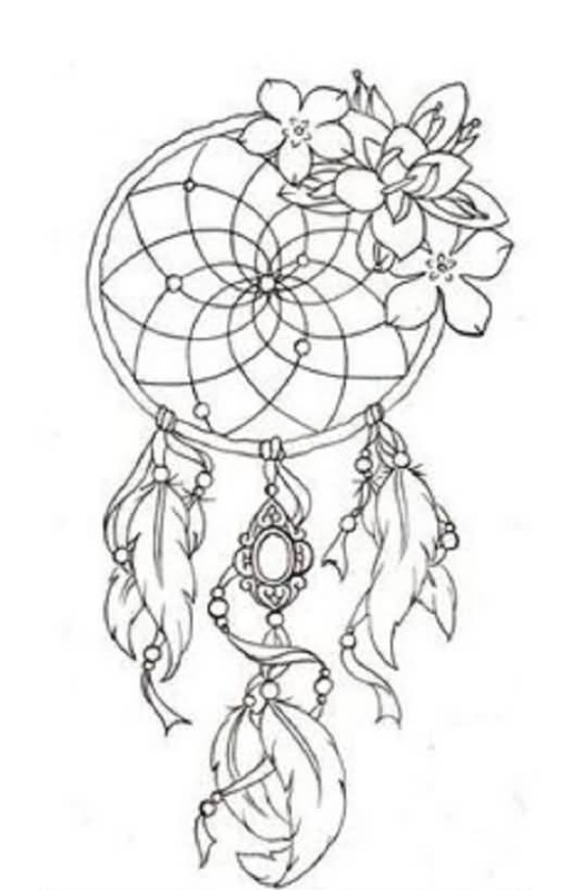 beautiful simple dream catcher tattoo design make on palm. Black Bedroom Furniture Sets. Home Design Ideas