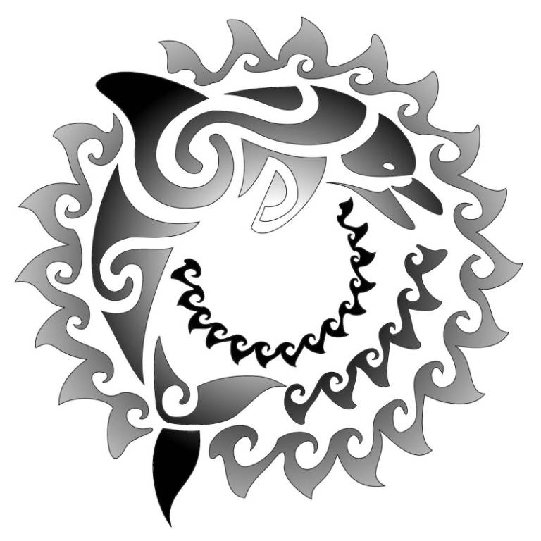 Simple Maori Dolphin Tattoo Design Make On Paper