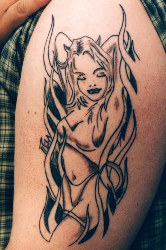 Sexy girl tattoo for men
