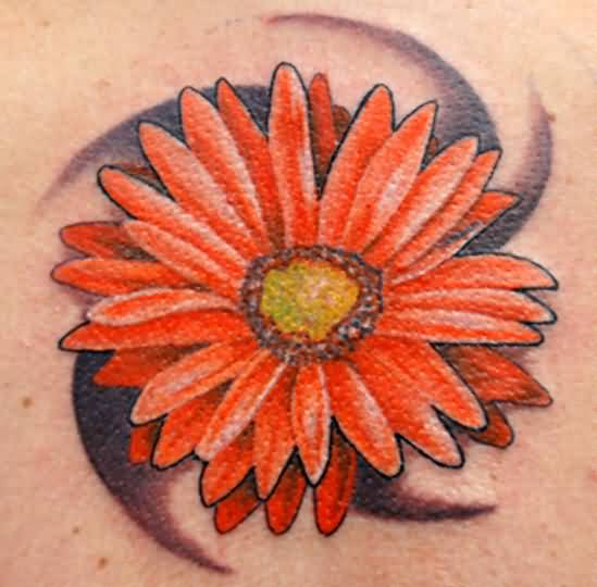 Ultimate Colorful Daisy Flower Tattoo Design