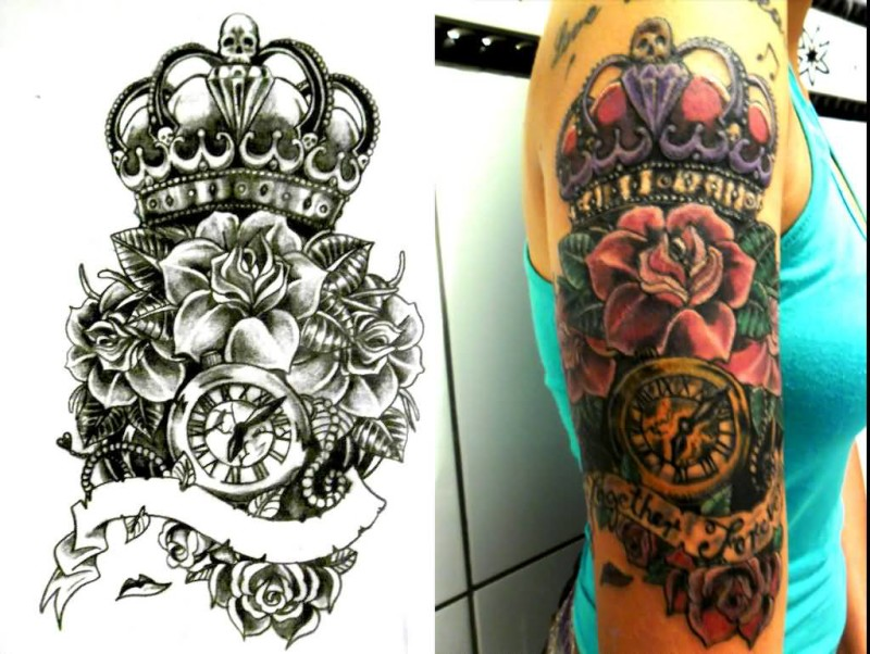 Crown women tattoo ideas and crown women tattoo designs for Cover up tattoos for women