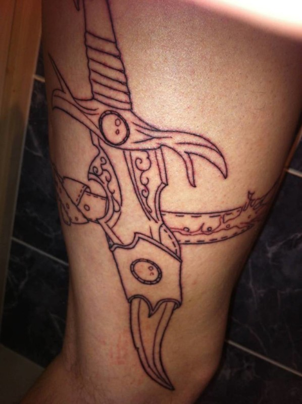 Dagger Tattoo Outline: Page 2 -Tattoos Hunter