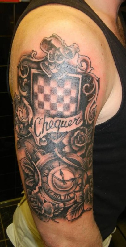 family crest sleeve tattoo ideas and family crest sleeve tattoo designs page 3. Black Bedroom Furniture Sets. Home Design Ideas