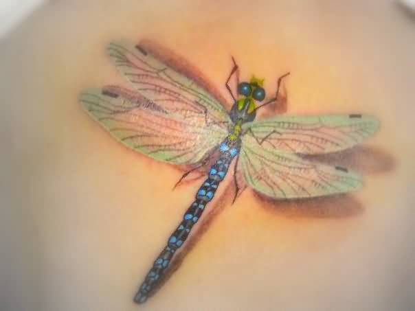 Awesome 3D Dragonfly Tattoo Design Made By Perfect Artist