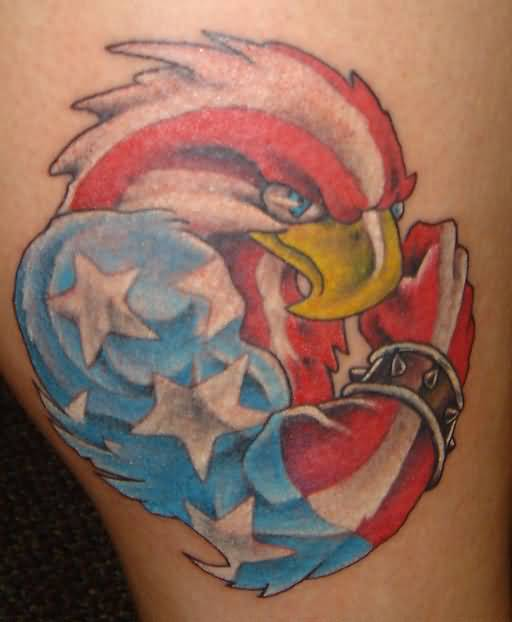 Brilliant Flag Eagle Tattoo Design Made By Colorful Ink