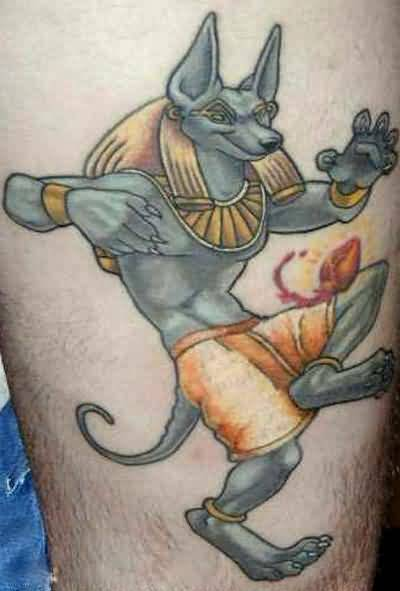Crazy Egyptian God Tattoo Made By Ink