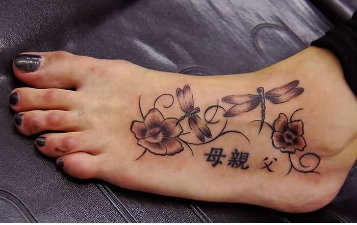 women foot tattoo ideas and women foot tattoo designs page 3. Black Bedroom Furniture Sets. Home Design Ideas