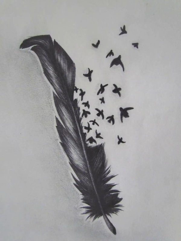 feather birds tattoo ideas and feather birds tattoo designs page 3. Black Bedroom Furniture Sets. Home Design Ideas