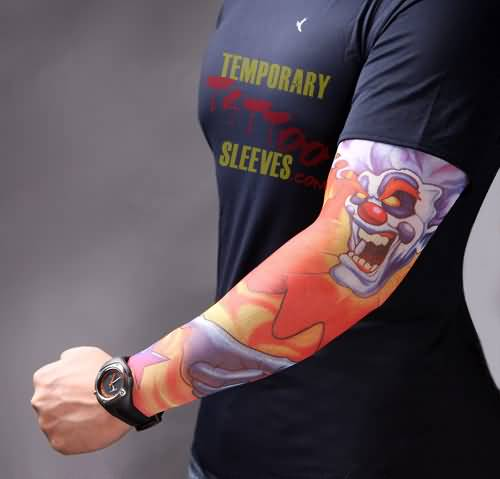 Full Sleeve Decorated With Outstanding Colorful Fire n Flame Tattoo