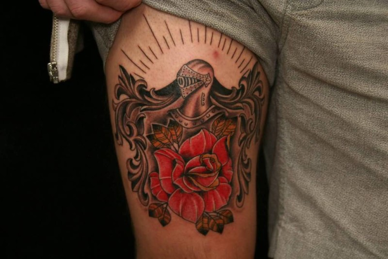 Lower Sleeve Cover Up With Classy Nice Family Crest  Tattoo