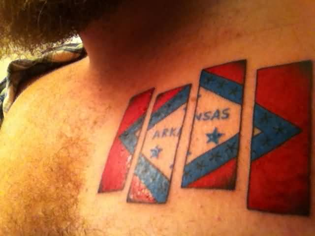 Men Chest Cover Up With Wonderful Classy Flag Tattoo