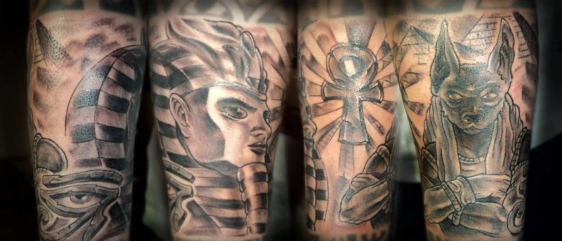 Mind Blowing Collaboration Egyptian  Tattoo