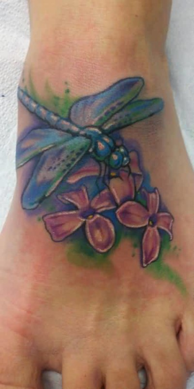 dragonfly flower tattoo ideas and dragonfly flower tattoo designs page 3. Black Bedroom Furniture Sets. Home Design Ideas