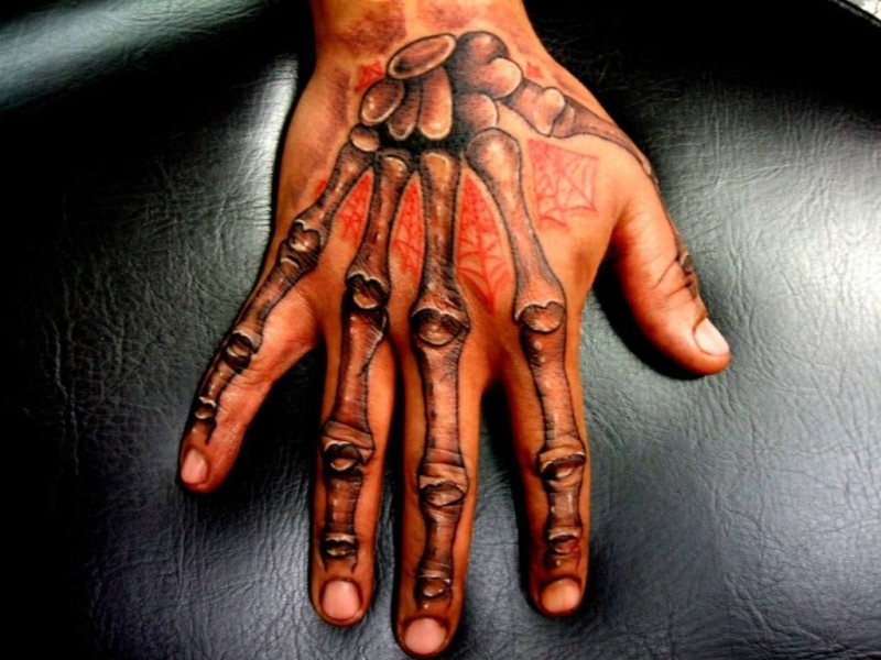 Scary Skeleton Fingers Tattoo Design Image