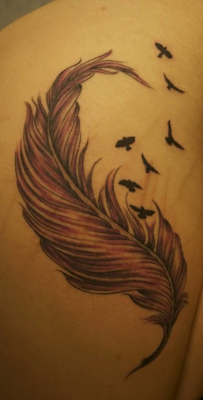 Feather Birds Tattoo Ideas and Feather Birds Tattoo ...