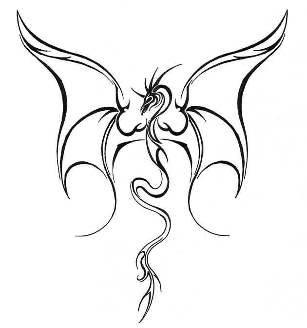 Line Drawing Dragon Tattoo : Dragon tattoo ideas and designs page