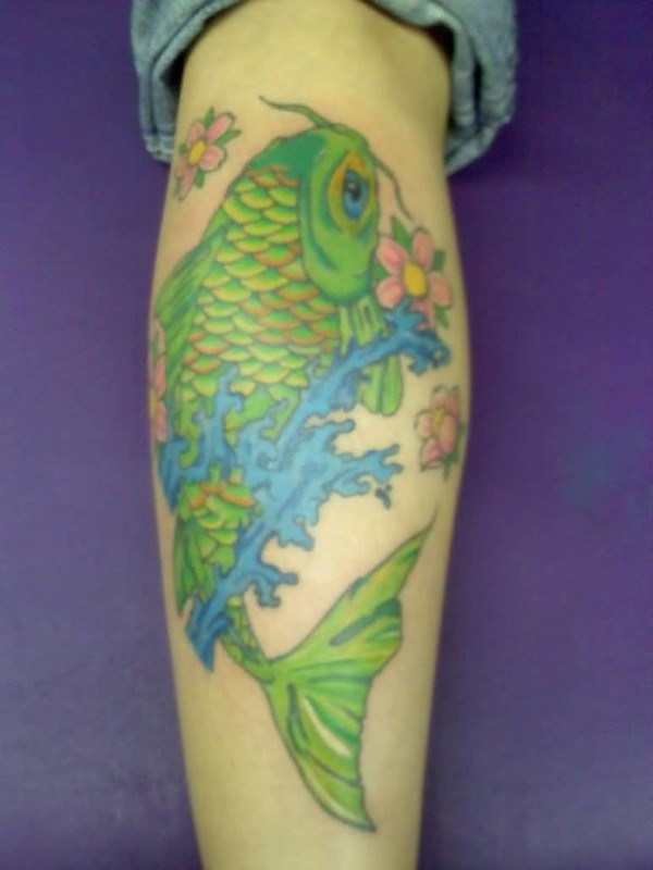 Fish tattoo ideas and fish tattoo designs page 7 for Green koi fish