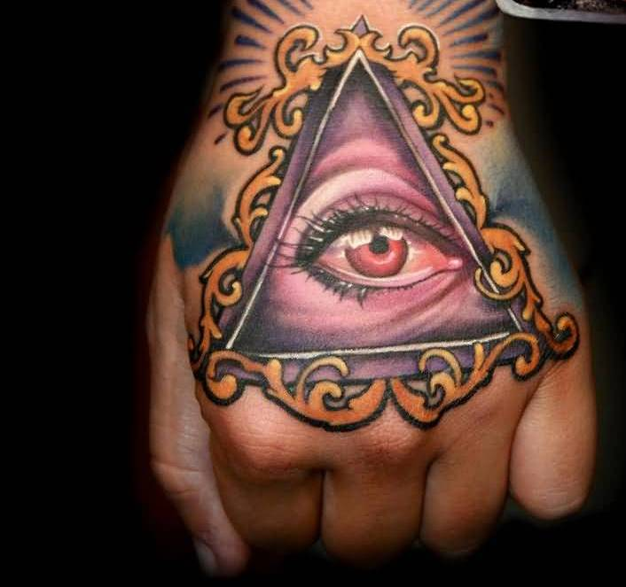 Eye With Triangle Tattoo: Images, Pictures -Tattoos Hunter