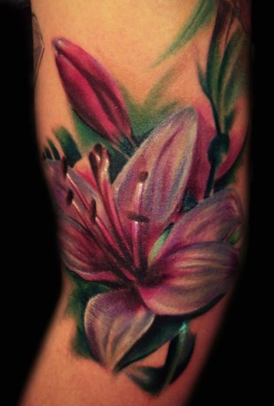 Stylish Classy Flower Tattoo Made By Cool Artist