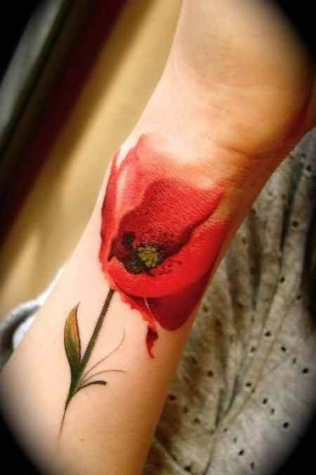 Stylish New Wonderful Flower Tattoo