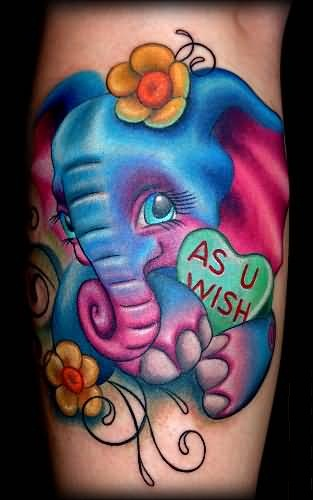 colorful elephant tattoo ideas and colorful elephant tattoo designs. Black Bedroom Furniture Sets. Home Design Ideas