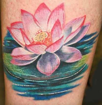 Tremendous Famous Lotus Flower Tattoo Made By Perfect Artist