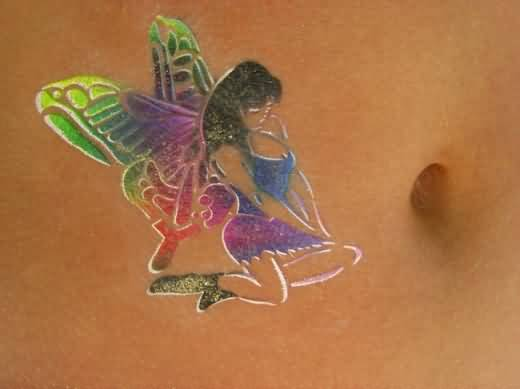 Ultimate Big Wings Fairy Tattoo On rib Side