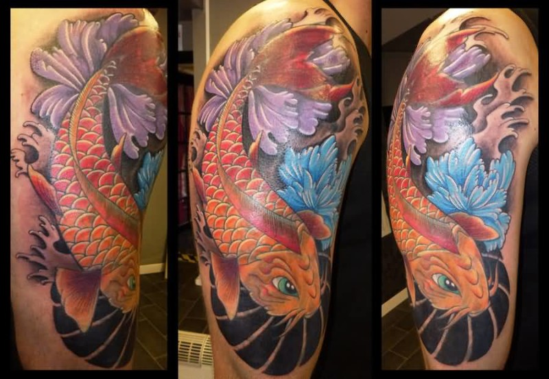 Fish tattoo ideas and fish tattoo designs page 3 for Koi fish cover up