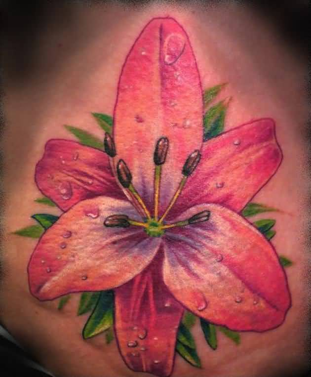Wonderful Trendy Flower Tattoo Made By Perfect Artist