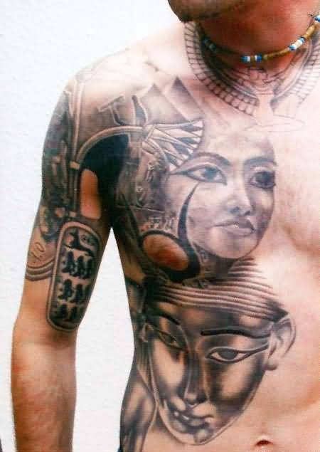 Men face tattoo ideas and men face tattoo designs page 2 for Two faced tattoo