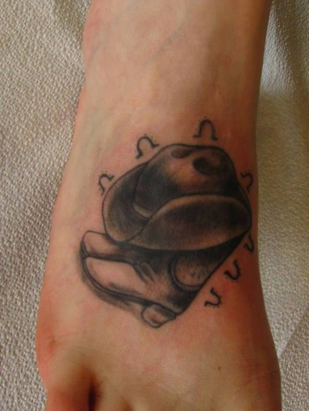 Amazing Simple Foot Tattoo Design Made By Ink