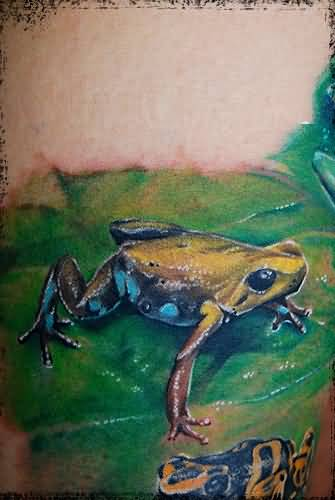 Another Best 3D Frog Tattoo Image