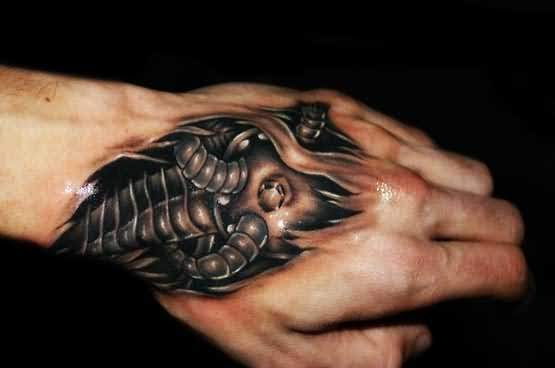 71cf03699 Brilliant Ripped Skin 3D Hand Tattoo Design Made By Perfect Artist