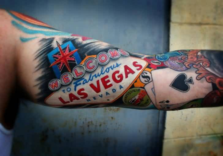 Gambling sleeve tattoo ideas and gambling sleeve tattoo for Tattoo in las vegas
