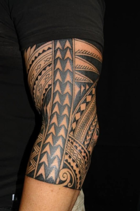 Lower Sleeve Brilliant Tribal Hawaiian Tattoo Design Best Ever Image